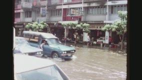 Verkeer in vloed stock videobeelden