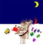Verkeerde draai te scherp voor slechte oude Kerstman Stock Fotografie