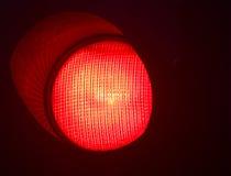 Verkeers lichtrood einde Stock Afbeelding