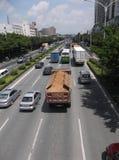 Verkeerslandschap van Shenzhen 107 Nationale Weg Stock Foto's