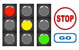 Verkeerslicht. Stock Afbeeldingen
