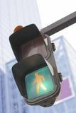 Verkeerslicht in een stad Royalty-vrije Stock Afbeeldingen