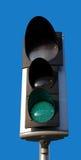 Verkeerslicht met groen licht royalty-vrije stock foto's
