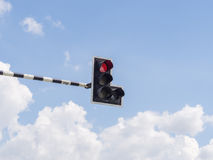 Verkeerslicht: Rood licht Stock Fotografie