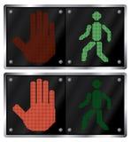 Verkeerslicht voor mensen. Stock Afbeeldingen