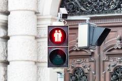 Verkeerslicht Wenen voor meer tolerantie stock foto