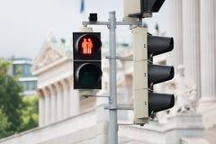 Verkeerslicht Wenen voor meer tolerantie stock afbeeldingen