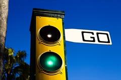 Verkeerslichten met het Go teken royalty-vrije stock foto's