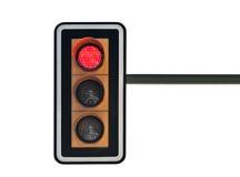 Verkeerslichten met rood royalty-vrije stock afbeelding