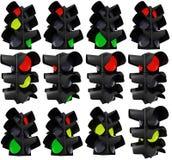 Verkeerslichten in variaties Royalty-vrije Stock Foto