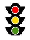 Verkeerslichtpictogram Stock Foto
