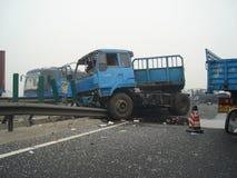 Verkeersongeval op de weg van China Royalty-vrije Stock Fotografie
