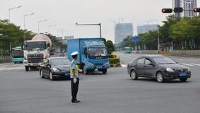 Verkeerspolitie Stock Foto