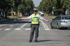 Verkeerspolitie royalty-vrije stock foto
