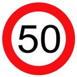 Verkeersteken 50 Royalty-vrije Stock Afbeeldingen