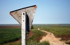 Verkeersteken in de Krim, de Oekraïne Stock Afbeeldingen