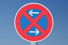 Verkeersteken die beperking tegenhoudt Royalty-vrije Stock Foto's