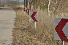 Verkeersteken, het teken van de kromming winding royalty-vrije stock afbeelding