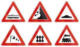 Verkeersteken in Italië worden gebruikt dat Stock Foto's