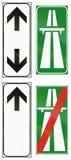 Verkeersteken in Italië worden gebruikt dat Royalty-vrije Stock Afbeeldingen