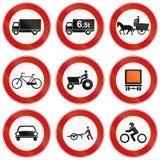 Verkeersteken in Italië worden gebruikt dat Royalty-vrije Stock Foto