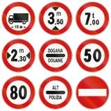 Verkeersteken in Italië worden gebruikt dat Stock Afbeeldingen