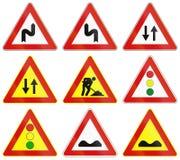 Verkeersteken in Italië worden gebruikt dat Stock Foto