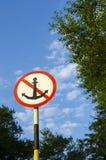 Verkeersteken met een anker Stock Fotografie
