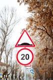 Verkeersteken op de straat royalty-vrije stock foto