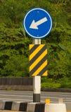 Verkeersteken op de Weg Stock Foto