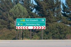 Verkeersteken op N2 Stock Foto's
