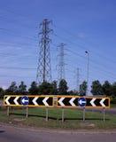 Verkeersteken op Rotonde Royalty-vrije Stock Fotografie