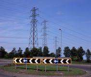 Verkeersteken op Rotonde Royalty-vrije Stock Afbeelding