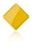 Verkeersteken op Wit Stock Fotografie