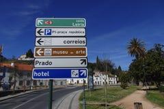 Verkeersteken Portugal Stock Afbeelding