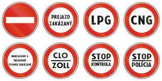 Verkeersteken in Slowakije worden gebruikt dat royalty-vrije illustratie