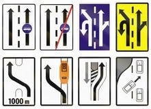 Verkeersteken in Slowakije worden gebruikt - Steeg voor bussen die vector illustratie