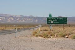 Verkeersteken tusen staten Stock Fotografie