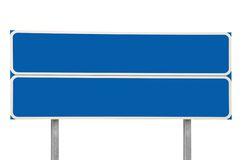 Verkeersteken Twee van kruispunten Geïsoleerdee het Blauw van de Pijl Royalty-vrije Stock Fotografie