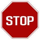 Verkeersteken van het etiket de Rode einde Het Einde en de opbrengst van de verkeercontrole straat vector illustratie