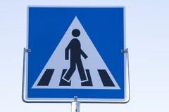 Verkeersteken voetgangersoversteekplaats Noorwegen Stock Afbeelding
