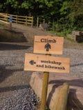 Verkeersteken voor bergfietsers Royalty-vrije Stock Foto