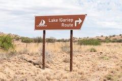 Verkeersteken voor de toneelroute langs de Gariep-Dam Stock Afbeelding