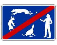 Verkeersteken voor honden vector illustratie