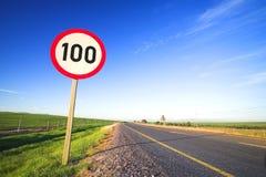 Verkeersteken voor maximum snelheid stock afbeelding