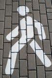 Verkeersteken voor voetgangers Royalty-vrije Stock Afbeelding