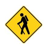 Verkeersteken - wandelaar Royalty-vrije Stock Foto