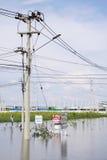 Verkeersteken in water Royalty-vrije Stock Afbeelding