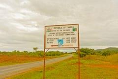 Verkeersteken in Zambia Royalty-vrije Stock Foto's
