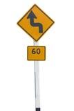 Verkeersverkeersteken op witte achtergrond worden geïsoleerd die stock fotografie